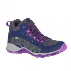 Merrell Womens Lulea Mid Waterproof Trekker Boots - Navy/Purple
