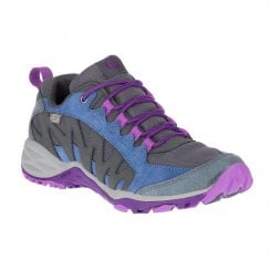 Merrell Womens Lulea Mid Waterproof Trekker Boots - Grey/Navy