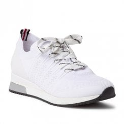 Marco Tozzi Womens White Comb Textile Sneakers