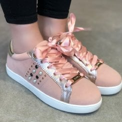 Lloyd & Pryce Womens Pink Trainers - Higgins