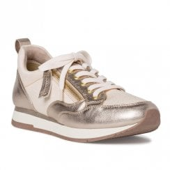 Tamaris Womens Rose Gold Metallic Sneakers Shoes