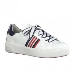 Tamaris Womens White Patent Sneakers