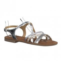 Tamaris Womens Silver Flat Sandals