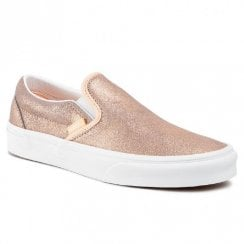 Vans Womens Slip On Sneakers - Rose Gold
