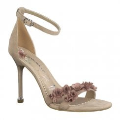 Tamaris Womens Suede Leather High Heel Sandals - Old Rose