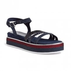 Marco Tozzi Womens Flat Sandals - Navy