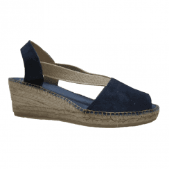 Toni Pons Teide-A Suede Wedge Heeled Espadrille Sandals - Navy