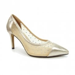 Lunar Womens Cleopatra Gold Elegance Court Shoes