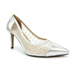 Lunar Womens Cleopatra Silver Elegance Court Shoes