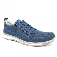 Lunar Womens Leap Navy Laced Trainer Shoes