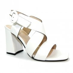 Lunar Womens Quince White Block Heel Sandals - JLE088