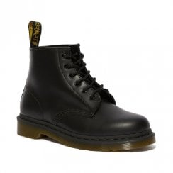 Dr Martens Unisex 101 Smooth Leather Ankle Boots - Black