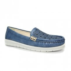 Lunar Womens Carmella Blue Lightweight Casual Slip On Shoes