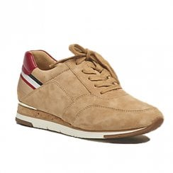 Gabor Womens Beige Suede Sneakers Shoes