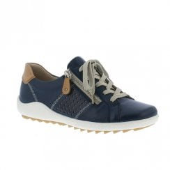 Remonte Ladies Leather Shoes - Navy