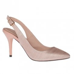 Kate Appleby Mathers Make up Nude High Heeled Slingback Pointed Shoe
