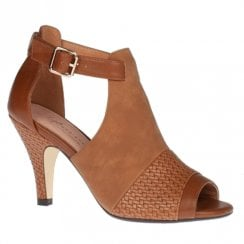 Kate Appleby Margate Fudge Tan High Heel Peep Toe Sandals
