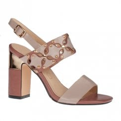 Kate Appleby Barberry Rose Nude Mix High Heeled Slingback Sandals