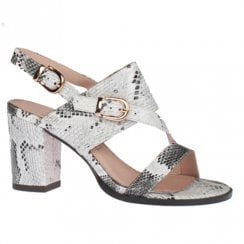 Kate Appleby Frome Snow Grey High Heeled Slingback Sandals