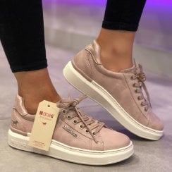Mustang Ladies Blush Nude Trainer - 1351-301