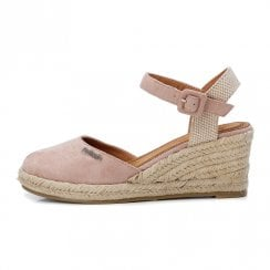 Refresh Womens Nude Suede Espadrille Wedged Sandals