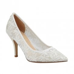 Lotus Briony White Court High Heeled Shoes