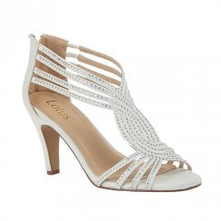 Lotus Nicole Ice Diamante Heeled Sandals