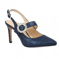 Lotus Mishka Navy Slingback High Heels
