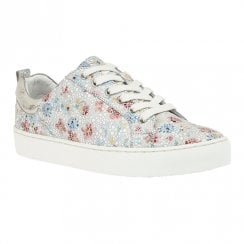 Lotus Garda Multi Floral Leather Womens Lace Up Sneakers