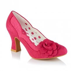 Ruby Shoo Chrisse Fuchsia Mid Heel Shoes - 09336