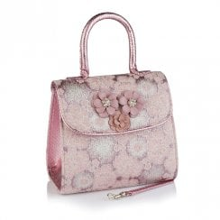 Ruby Shoo Valetta Lilac Beaded Flower Trim Handbag - 50215