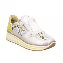 Ara Womens Silver Yellow Sapporo Sneakers