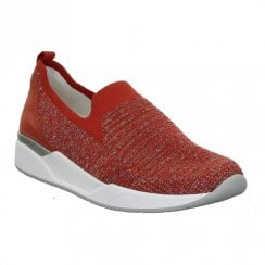Ara Womens Red Elasticated Slip On
