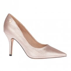 Una Healy Two Angels Taffy Rose Gold High Heel Court Shoes