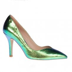 Una Healy Take It Easy Mermaid Tail Green High Heel Pointed Court Shoes
