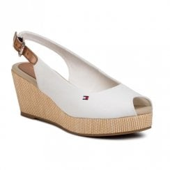 Tommy Hilfiger Wedged Slingback White Sandals