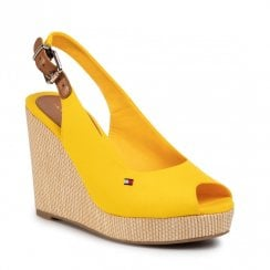 Tommy Hilfiger Wedged Slingback Yellow Sandals