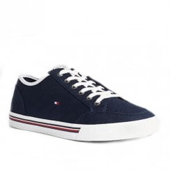 Tommy Hilfiger Mens Desert Fly Navy Cotton Lace Up Sneakers