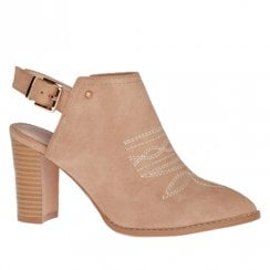Kate Appleby Groomsport Slingback Suede Heeled Boots - Make Up Nude