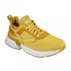Skechers Womens Los Angeles Split Overpass Yellow Soft Sneakers