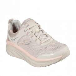 Skechers Womens Relaxed Fit D'Lux Walker Beige Sneakers