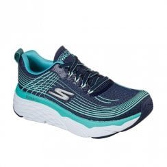 Skechers Womens GOrun Max Cushioning Elite Turquoise/Navy Sneakers