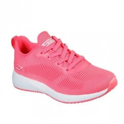 Skechers Womens BOBS Sport Squad Glowrider Neon Pink Sneakers