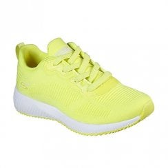 Skechers Womens BOBS Sport Squad Glowrider Neon Yellow Sneakers