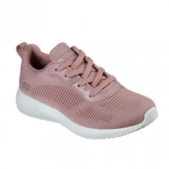 Skechers Womens Bobs Sport Squad Tough Talk Blush Pink Sneakers
