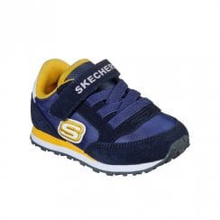 Skechers Infant Retro Sneaks Gorvox Suede Nylon Blue Yellow Sneakers
