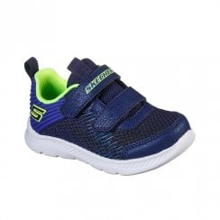 Skechers Infant Comfy Flex 2.0 Micro-Rush Navy Woven Sneakers