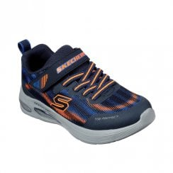 Skechers Kids Skech-Air Dual Navy Orange Mesh Sneakers