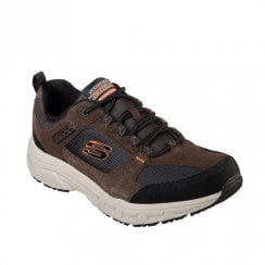 Skechers Mens Relaxed Fit Oak Canyon Chocolate Suede Walking Sneakers