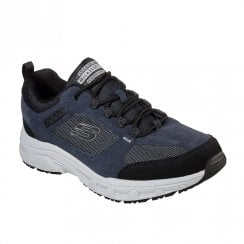 Skechers Mens Relaxed Fit Oak Canyon Navy Suede Walking Sneakers